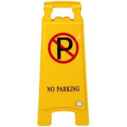 Σταντ που προειδοποιεί ότι δεν επιτρέπεται το παρκάρισμα