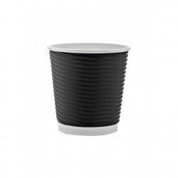 Ποτήρι χάρτινο 4oz γκοφρέ μαύρο 25τ