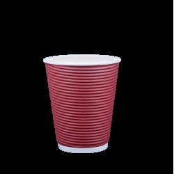 Ποτήρι χάρτινο 8oz γκοφρέ μπορντώ 25τ