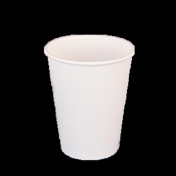Ποτήρι χάρτινο 12oz λευκό 50τ