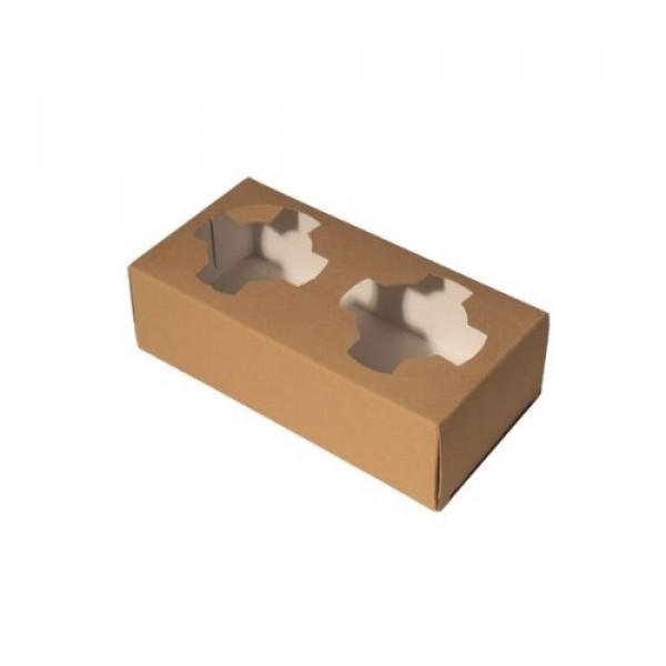 Ποτηροθήκη χάρτινη craft 2θέσεων