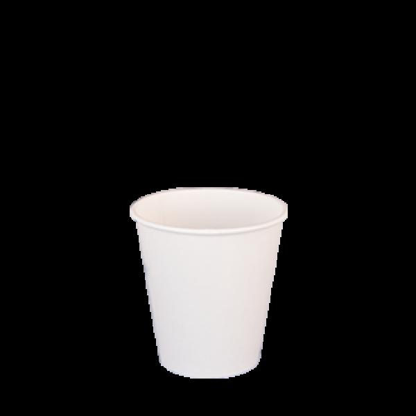 Ποτήρι χάρτινο 4oz λευκό 50τ