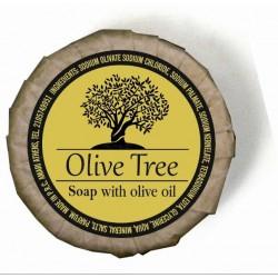 Olive Tree σαπούνι ελαιόλαδου στρογγυλό 15γρ σε οικολογικό χαρτί