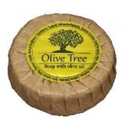 Olive Tree σαπούνι ελαιόλαδου στρογγυλό 30γρ σε οικολογικό χαρτί