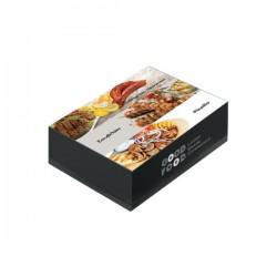 Κουτί ψητοπωλείου μεριδά γύρος και καλαμάκια Ζ72 1kg Μιας χρήσης αναλώσιμα