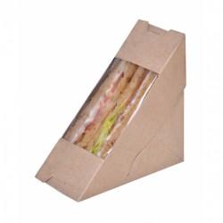 ΚΟΥΤΙ ΚΡΑΦΤ ΤΡΙΓΩΝΟ SANDWICH 17,5*7,5*12,5 50τ Σκεύη φαγητού χάρτινα